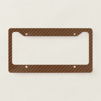 Rustic-Like Dark Brown & Lighter Brown Stripes Licence Plate Frame