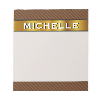 Rustic-Like Dark Brown & Lighter Brown Stripes Notepad