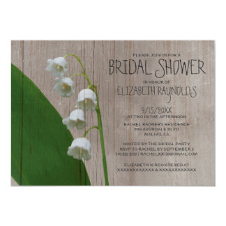 Rustic Lily of the Valley Bridal Shower Invitation
