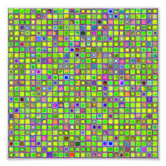 Rustic Lime Green Mosaic 'Clay' Tiles Pattern Photo