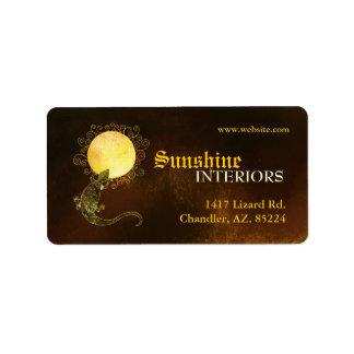 Rustic Lizard & Sun Business Label