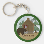 Rustic Lodge: Country Cabin Keys with Bear