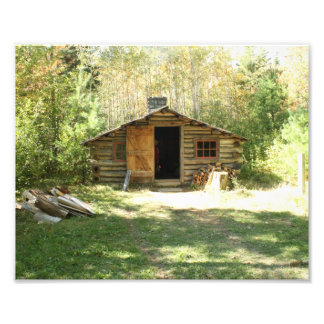 Rustic Log Cabin Photograph