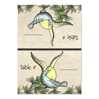 Rustic Love Birds (Foldable Table Number Cards) Invites