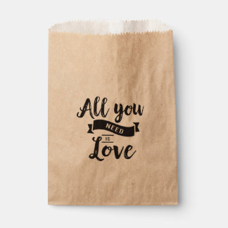 Rustic Love Black Wedding, Bridal Shower, Party Favour Bag