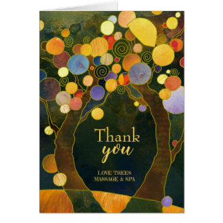 Rustic Love Trees Business Thank You Card