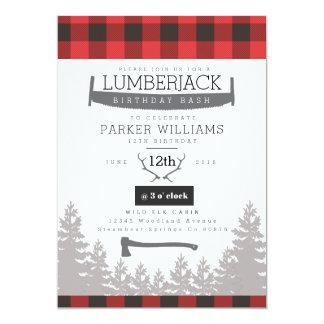 Rustic Lumberjack Birthday Bash Invite
