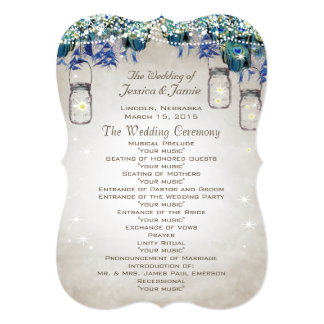 Rustic Luxe Peacock Wedding Program