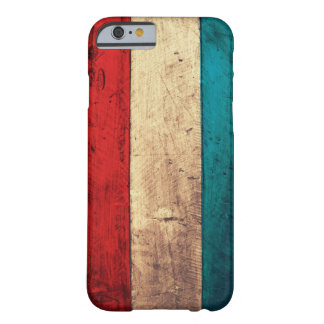 Rustic Luxembourg Flag Barely There iPhone 6 Case