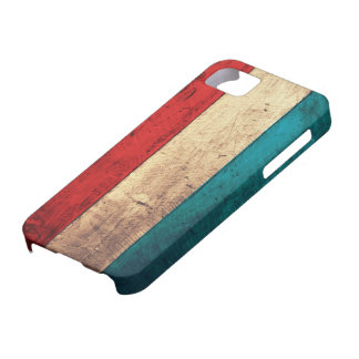 Rustic Luxembourg Flag iPhone 5 Cover