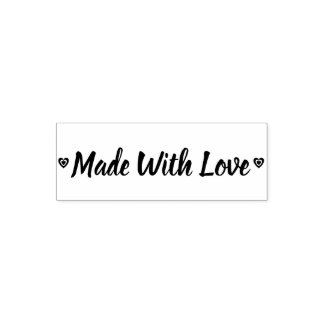Rustic Made With Love Hearts Self-inking Stamp
