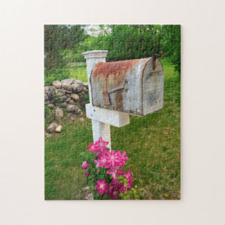 Rustic Mail Box Vermont. Jigsaw Puzzle