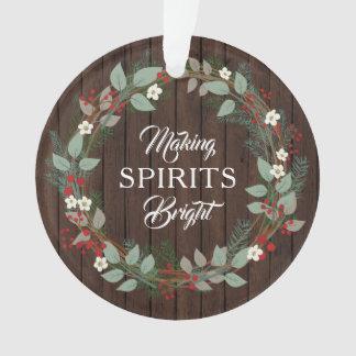 "Rustic ""Making Spirits Bright"" Photo Ornament"