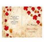 Rustic maple leaves fall  bi fold Wedding program 21.5 Cm X 28 Cm Flyer