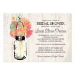 Rustic Mason Jar and Wildflowers Personalized Invite