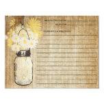 Rustic Mason Jar and Wildflowers | Recipe 11 Cm X 14 Cm Invitation Card