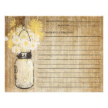 Rustic Mason Jar and Wildflowers | Recipe Invite