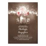 rustic mason jar barn lights bridal shower 13 cm x 18 cm invitation card