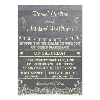 Rustic Mason Jar Wedding Invitation 2