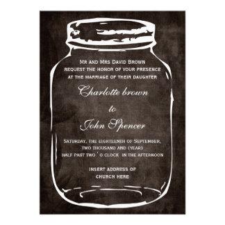 rustic mason jar wedding invites