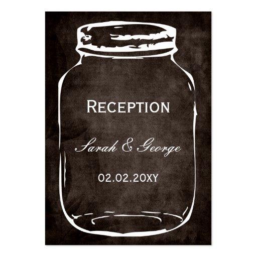 rustic mason jar wedding Reception Cards Business Card