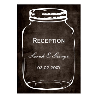 rustic mason jar wedding Reception Cards Pack Of Chubby Business Cards