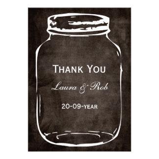 rustic mason jar wedding thank you announcements
