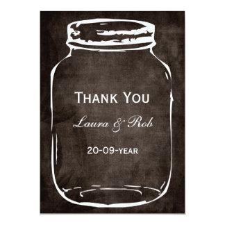 rustic mason jar wedding thank you 13 cm x 18 cm invitation card