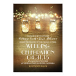 rustic mason jars and lights wedding invitations 13 cm x 18 cm invitation card