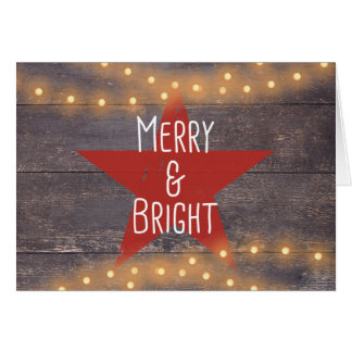 """Rustic """"Merry and Bright"""" Christmas Card"""