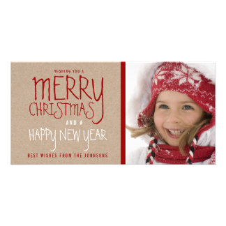 RUSTIC MERRY CHRISTMAS | HOLIDAY PHOTO CARD