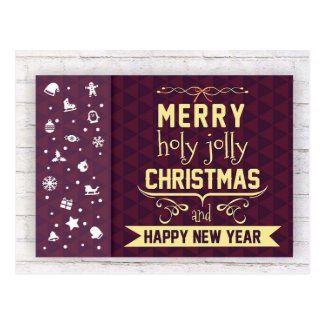 RUSTIC MERRY CHRISTMAS | HOLIDAY PHOTO POSTCARD