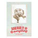 "Rustic Merry Everything Christmas Holiday Card 5"" X 7"" Invitation Card"