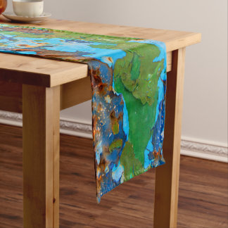 Rustic Metal Peeling Paint Vintage Grunge - cotton Short Table Runner