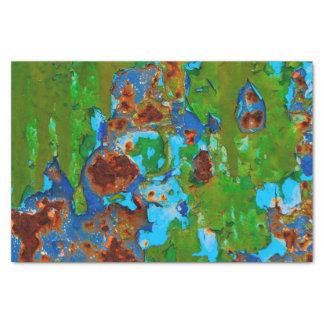 Rustic Metal Peeling Paint Vintage Grunge Texture Tissue Paper