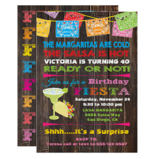 Rustic Mexican Fiesta Birthday Party Invitation