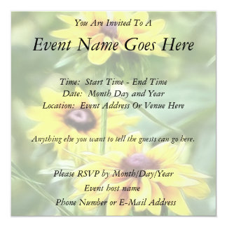 Rustic Mix Rudbeckias Personalized Announcements