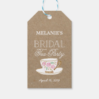 Rustic Modern Bridal Tea Party | Bridal Shower Gift Tags