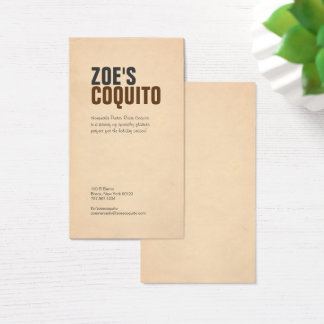 Rustic Modern Business Card