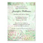 Rustic Modern Succulents Bridal Shower 13 Cm X 18 Cm Invitation Card
