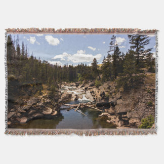 Rustic Montana River Throw Blanket