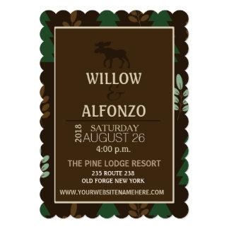 Rustic Moose Nature Lodge Wedding Invitation