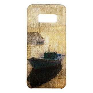 Rustic mountain lake canoe boat sailboat Case-Mate samsung galaxy s8 case