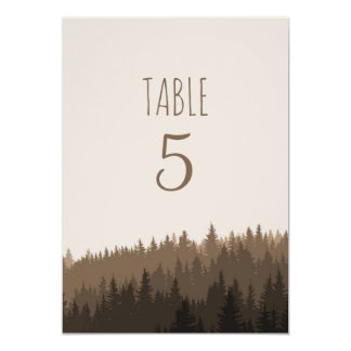Rustic Mountain table numbers in brown Card