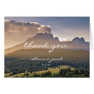 Rustic Mountain Wedding Thank You Card