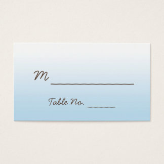 Rustic Mountain Zipline Wedding Place Cards