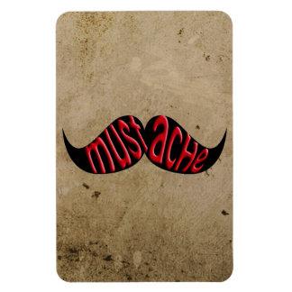 Rustic Mustache Moustache Stache Rectangular Magnet