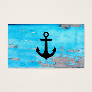 Rustic Nautical Anchor Business Card