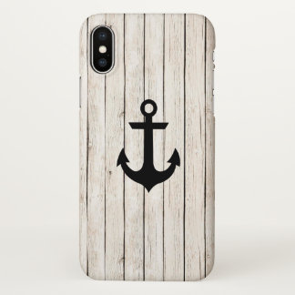 Rustic Nautical Anchor iPhone X Case