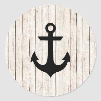 Rustic Nautical Anchor Sticker